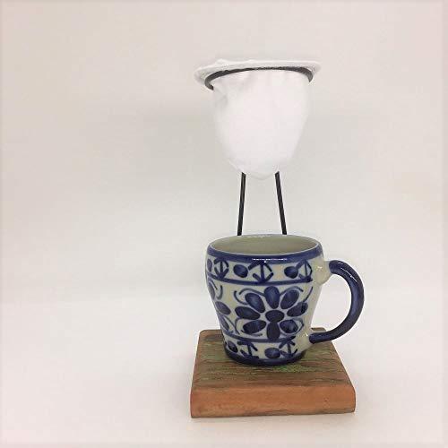 Kit de Café Egoista - Individual - Caneca Colonial 2 Monte Sião - Demolição - feito a mão