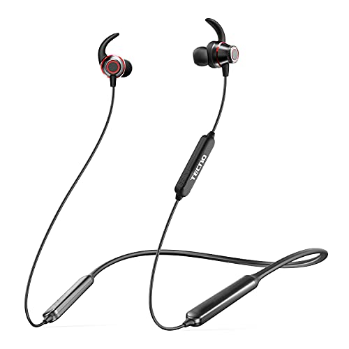 TECNO Wireless Bluetooth Headphones with Microphone, 38H Playtime Neckband Bluetooth Headphones, Sports Wireless Earbuds for Running, Headphones Wireless Bluetooth 5.0 with Magnetic, B1