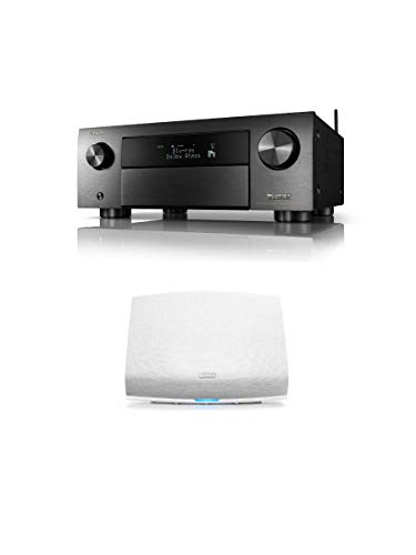 Denon AVR-X4700H 9.2 Channel 8K AV Receiver with Free Wireless HEOS 5 HS2 in White Package