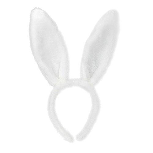 Oster Haarschmuck,Transwen Ostern Erwachsene Kinder Hairband Rabbit Ear Stirnband Stirnbänder Kaninchenohr Ostern Deko Accessories für Partys (Weiß)