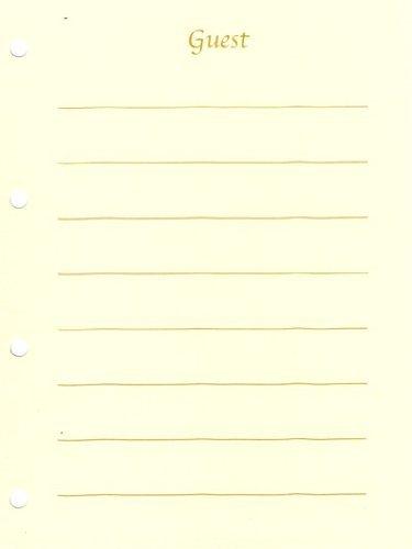 ゲストブック(芳名帳)用紙15枚セット(レーチェ)(宅配)