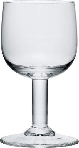 Alessi Ajm29/2 Glass Family Verre à Pied en Verre Cristallin, Set de 4 Pièces