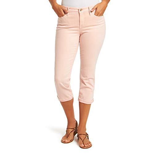 Nine West Women's Chrystie Slim Straight Cuff Capri, Rose Cloud, 8 Regular