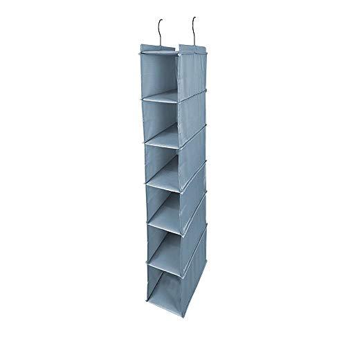 Amira 吊り下げ収納 衣類ラック 収納 クローゼット 水洗い可能 防湿防カビ 折りたたみ 幅15×奥行30×高84cm (6階)