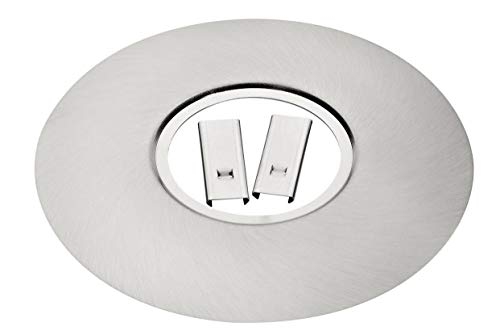 Ausgleichsblende für Einbaustrahler Lampn Einbauspots Lochverkleinerung eisengebürstet mit Federverlängerung