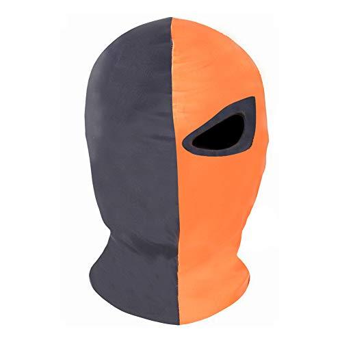 Innturt Deathstroke Cosplay Fabric Mask Balaclava Hood Face Single Eye, Orange/Black, One Size