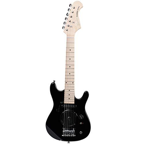 Fazley Niño FSTM100BK-M Elektrische Gitarre für Reisen, Schwarz