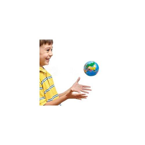 Balle en gomme Globe terrestre - Balle Planète terre