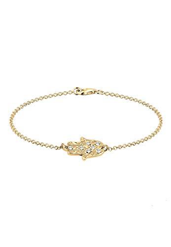 Elli Armband Damen Hamsa Hand mit Swarovski® Kristallen in 925 Sterling Silber
