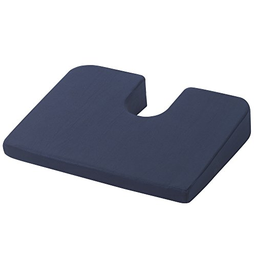 Drive Medical RTL1491COM Compressed Coccyx Cushion, Blue, One-Size