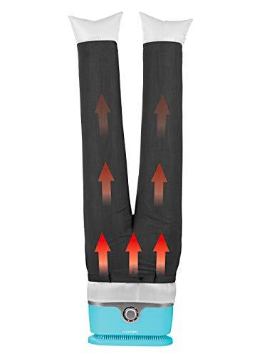 CLEANmaxx 07252 Ferro da Stiro per Camicie, Plastica, Azzurro con Inserti per Pantaloni