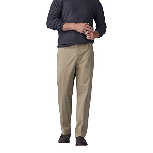 Lee Men's Performance Series Extreme Comfort Straight Fit Pant, Original Khaki, 34W x 30L