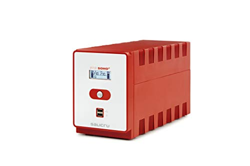 Salicru SPS 1600 Soho+ – Sistema de Alimentación Ininterrumpida (SAI/UPS) de 1600 VA Line-Interactive y con Doble Cargador USB