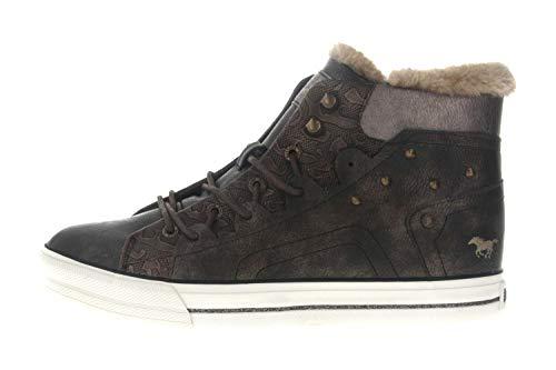 MUSTANG 1288-603 Schuhe Damen Schnür Booty High Top, Größe:36 EU, Farbe:Braun