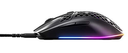 SteelSeries Aerox 3 – Superleichte Gaming-Maus – Optischer TrueMove Core Sensor mit 8.500 CPI– Ultraleichtes, wasserfestes Design – Schwarz - 6