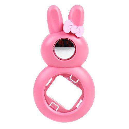 Prettyia 1 peça adorável coelho selfie e close-up lente espelhada para câmera instantânea Mini 8 Mini 9 Mini 8+ Mini 7s Polaroid 300 – Rosa