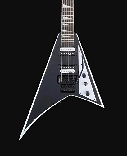 Jackson JS Series Rhaods JS32 Right Handed Electric Guitar without Case (Black with White Bevels, 6-Strings)