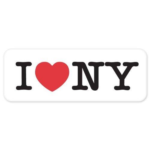 Autocollant mural en forme de cœur i lOVE nY bumper decal stickers new york 50 mm x 152 mm