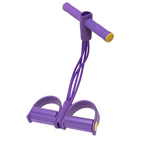 Multifunktionsverstellbares Fußpedal-Zugseil Hochfester Fußbauch-Trainer Sit-up-Brust-Fitness-Schönheits-Beinausrüstung (Lila, 45 * 25cm)