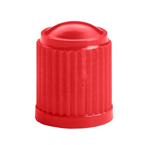 100x Tapas de válvula de automóvil en Rojo de Hofmann Power Weight, Tapa de válvula en Rojo neumáticos, Tapas válvulas neumáticos