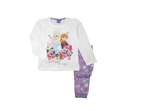 Frozen - Die Eiskönigin Anna und ELSA Schlafanzug (134, lila)