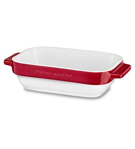 KitchenAid kblr02mber, Keramik, 2-teilig Mini Baker Backformen-Set, Empire rot