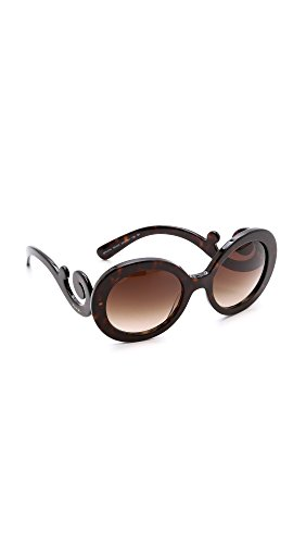Prada PR27NS, Gafas de Sol para Mujer, Negro (Black/ Grey), 55
