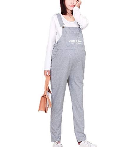 KEEPWO Damskie spodnie dla kobiet w ciąży, codzienne ogrodniczki w ciąży, długie kombinezony, 30, M