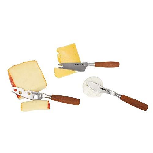 Boska Holland Rose Wood Mini Cheese Knives, 3 Piece Gift Set, 10 Year Guarantee, Taste Collection