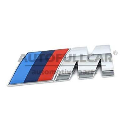 AutoFullCar.com Logo B M W Insignia M Aluminio - Aluminio Brillo