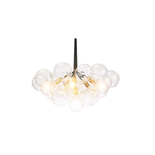TJLSS Vintage Creativo de la lámpara Colgante de Cristal Hecha a Mano Industrial Simple lámpara Colgante de Cristal Transparente de la lámpara Ajustable Loft