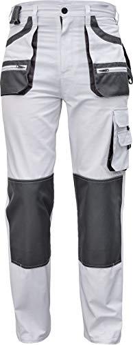 Stenso des-Emerton® - Herren Arbeitshose Bundhose/Cargohose - Weiß EU60