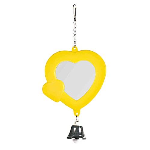 Trixie 5202 Herz-Spiegel mit Glocke, 7 cm
