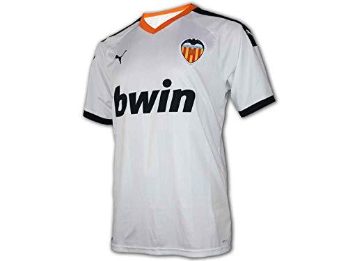 PUMA VCF Home Shirt Replica Maillot, Hombre, White Black-Vibrant Orange, L