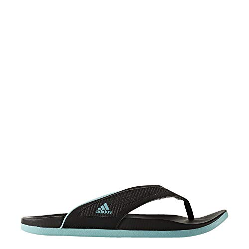 adidas Womens Adilette Comfort Summer Flip Flop Sandals (Black/Mint, 10)