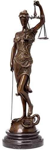 aubaho Bronzeskulptur Justitia Justizia Bronze Figur Skulptur 41cm Sculpture Justice