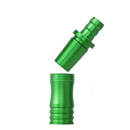 DILAW® Shisha Aluminium Schlauchadapter 18/8 Schliff Set 2-teilig Universal Hookah Wasserpfeife Alu Manyak,Opal,Vatos Menge: 1er Pack, Farbe: Grün