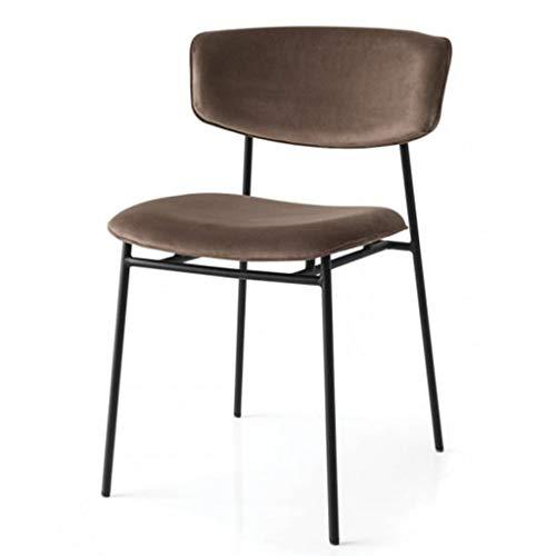Nordic Single Golden Makeup Chair Accueil Soft Bag Chair Retro Chaise en Fer Forgé - pour La Maison, Salle à Manger, Café, Bar, Bar