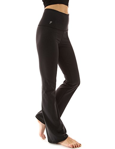 PattyBoutik Women Shaping Series Bootcut Yoga Pants (Solid Black M)