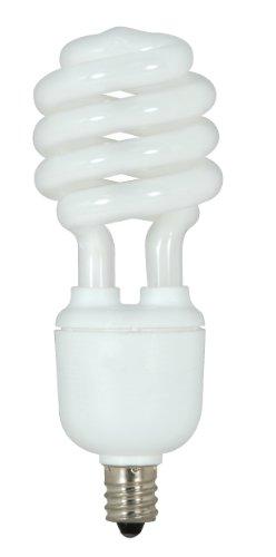 Satco S7366 13-Watt Candelabra Base T2 Mini Spiral, 5000K, 120V, Equivalent to 60-Watt Incandescent Lamp for Enclosed Fixtures