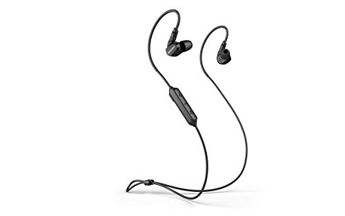 Wireless Sport Earphones IPX5 Waterproof and Sweat-Proof Sports Bluetooth 5.0 Headset for Workout, Running, Gym, Cell Phones Laptop TV, Low Latency in Ear Monitor (Comfy & Fast Pairing) (Black)