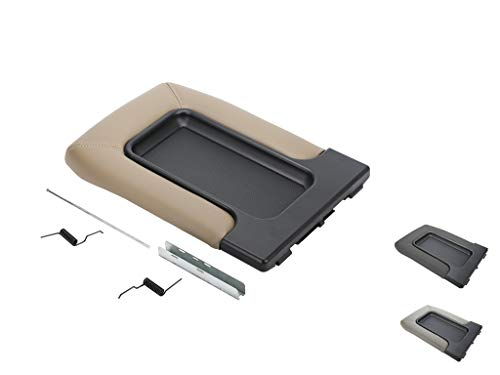 VeCarTech Center Console Lid/Cover Armrest Repair Kit Compatible with 99-07 Chevy Chevrolet Silverado,Tahoe,Suburban,Avalanche,GMC Sierra,Yukon,Escalade-Replaces 19127364,19127365,19127366,Beige