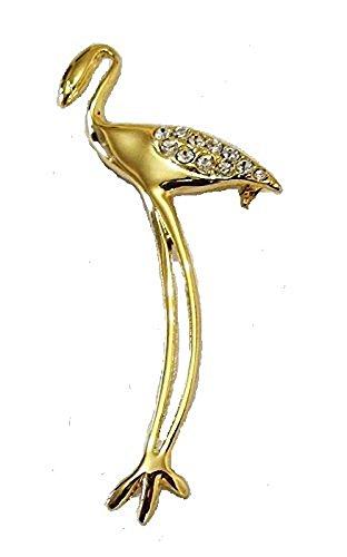 Acabado dorado Vintage de cristal de diseño de pájaros de flamenco joyas...