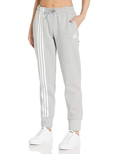 adidas Womens Must Haves 3-Stripe Doubleknit Pant Pantalones de chándal, Gris Medio Jaspeado/Blanco, X-Large/Large para Mujer