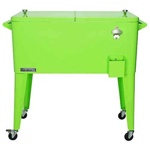 Permasteel PS-A203-LI Tragbarer Terrassenkühler mit Rollen, ca. 80 l, Lime