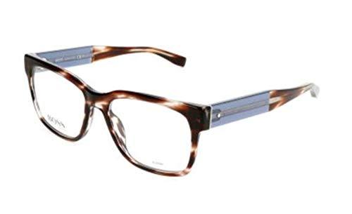 Hugo Boss BO-0180-K8R-17-53-17-140 Orange Brillengestelle BO-0180-K8R-17-53-17-140 Rechteckig Brillengestelle 53, Braun