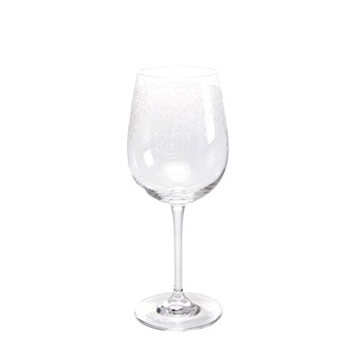 Paul Nagel Weißweinglas, Weinglas Lucca mit Pantografie Dekor 240ml H. 20cm