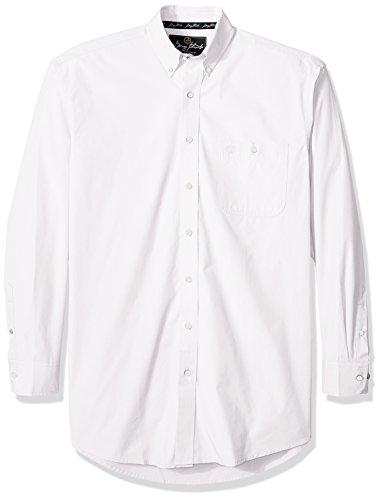 Wrangler mens George Strait One Pocket Button Long Sleeve Woven Shirt,Flat White,L