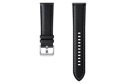 Samsung Stitch Leather Armband ET-SLR84, Uhrenarmband für Galaxy Watch3 mit 22 mm Stegbreite, Echtleder-Armband in Schwarz