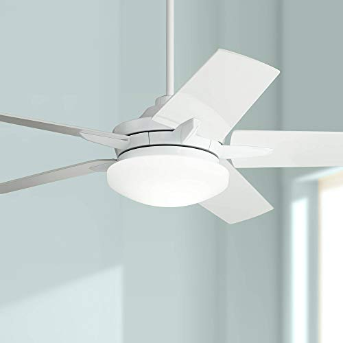 56' Casa Endeavor Modern Ceiling Fan with Light LED Dimmable...